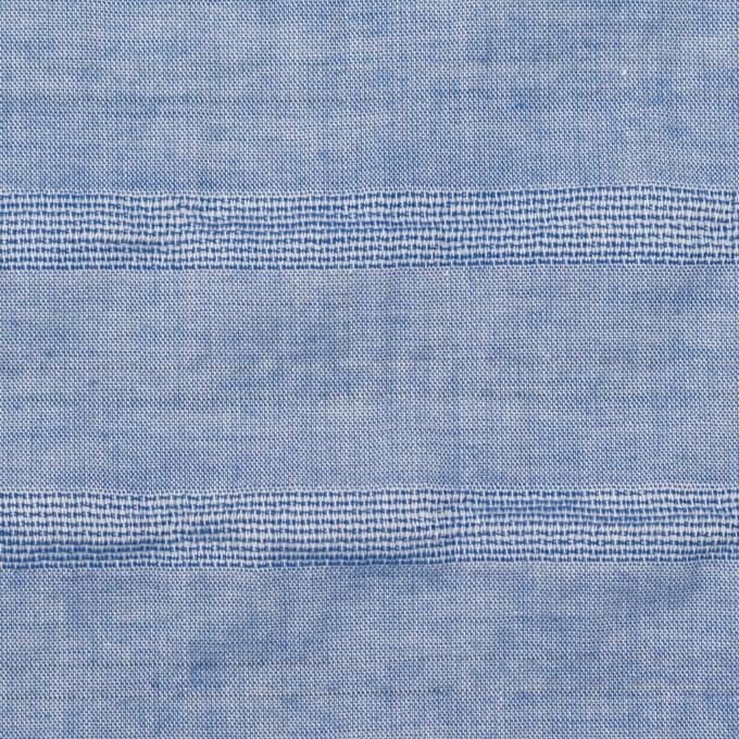 コットン&ポリウレタン×ボーダー(ブルー)×ボイルジャガード・シャーリング イメージ1