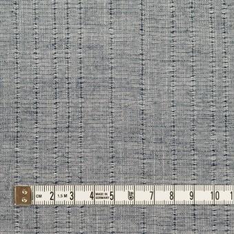 コットン&リネン×ストライプ(アッシュネイビー)×ボイルジャガード サムネイル4