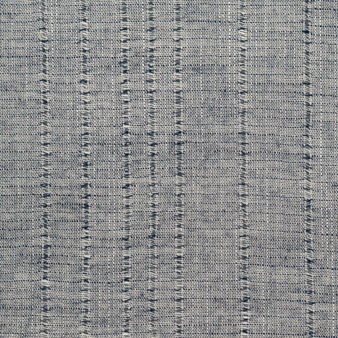 コットン&リネン×ストライプ(アッシュネイビー)×ボイルジャガード イメージ1