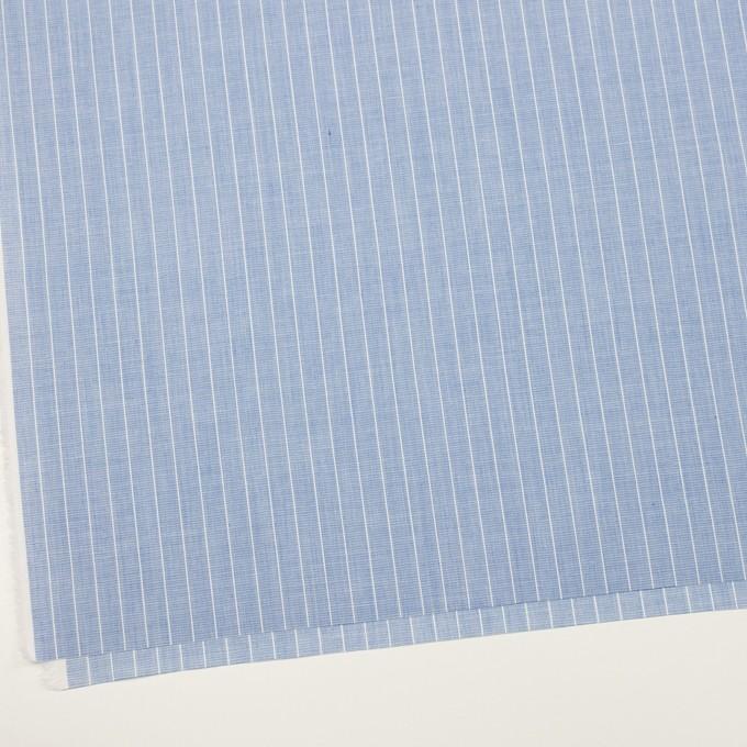 コットン&ポリエステル×ストライプ(ブルー)×二重織 イメージ2