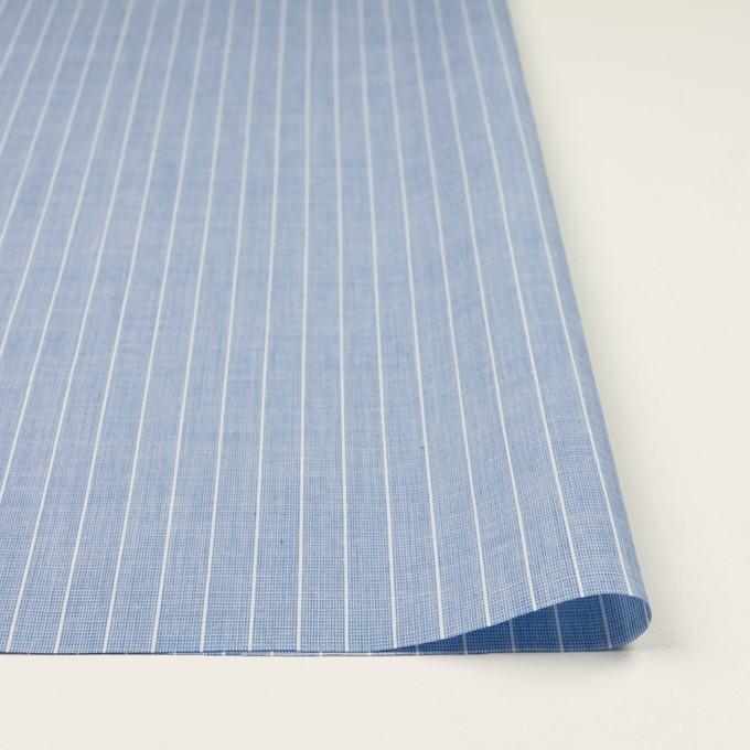 コットン&ポリエステル×ストライプ(ブルー)×二重織 イメージ3