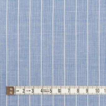 コットン&ポリエステル×ストライプ(ブルー)×二重織 サムネイル4