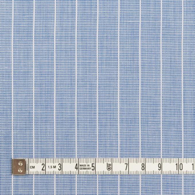 コットン&ポリエステル×ストライプ(ブルー)×二重織 イメージ4