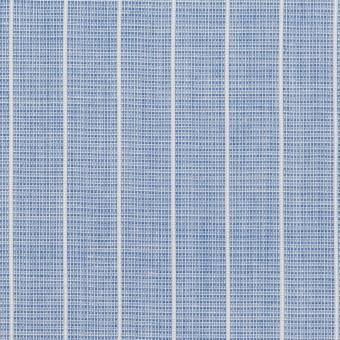 コットン&ポリエステル×ストライプ(ブルー)×二重織