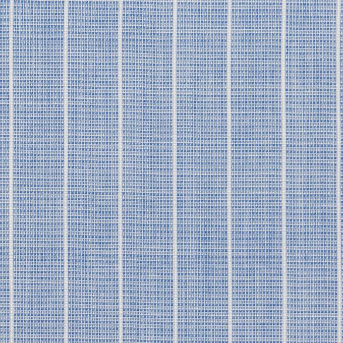 コットン&ポリエステル×ストライプ(ブルー)×二重織 イメージ1