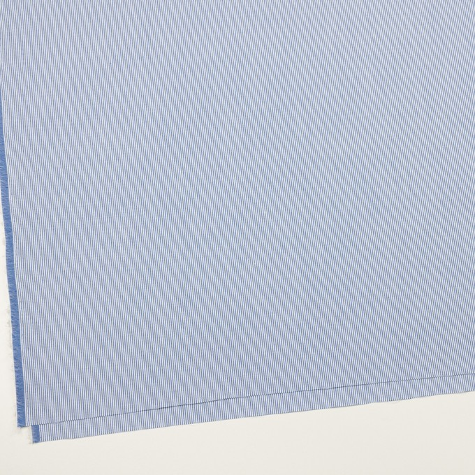 コットン&ポリエステル×ストライプ(ブルー)×コードレーン イメージ2