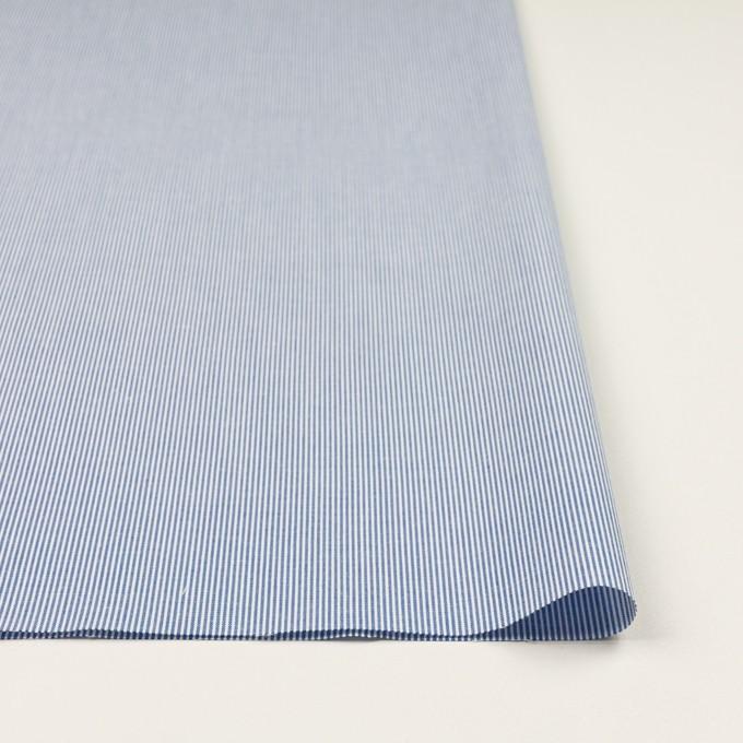 コットン&ポリエステル×ストライプ(ブルー)×コードレーン イメージ3