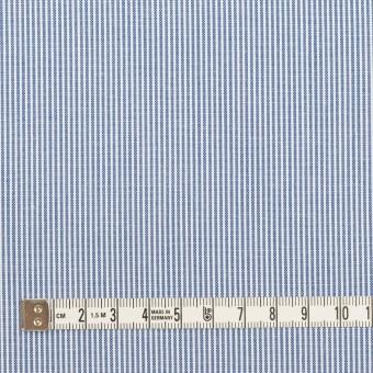 コットン&ポリエステル×ストライプ(ブルー)×コードレーン サムネイル4