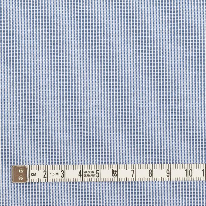 コットン&ポリエステル×ストライプ(ブルー)×コードレーン イメージ4
