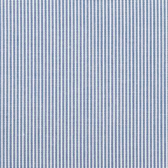 コットン&ポリエステル×ストライプ(ブルー)×コードレーン サムネイル1