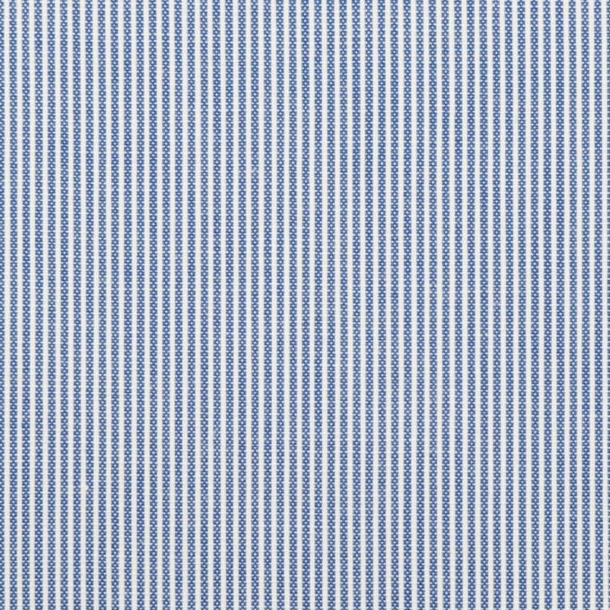 コットン&ポリエステル×ストライプ(ブルー)×コードレーン イメージ1