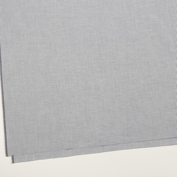 コットン&ポリウレタン×ストライプ(ネイビー)×コードレーン・ストレッチ イメージ2