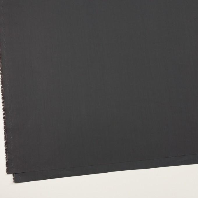 コットン×無地(チャコールグレー)×ローン_全2色_イタリア製 イメージ2