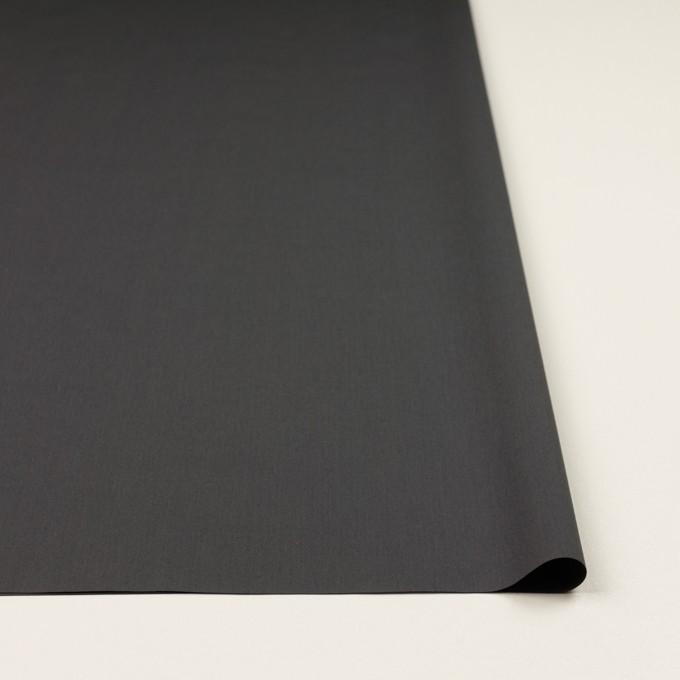 コットン×無地(チャコールグレー)×ローン_全2色_イタリア製 イメージ3