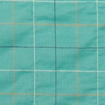 コットン&ポリウレタン×チェック(エメラルド)×ボイルシャーリング_全2色 サムネイル1