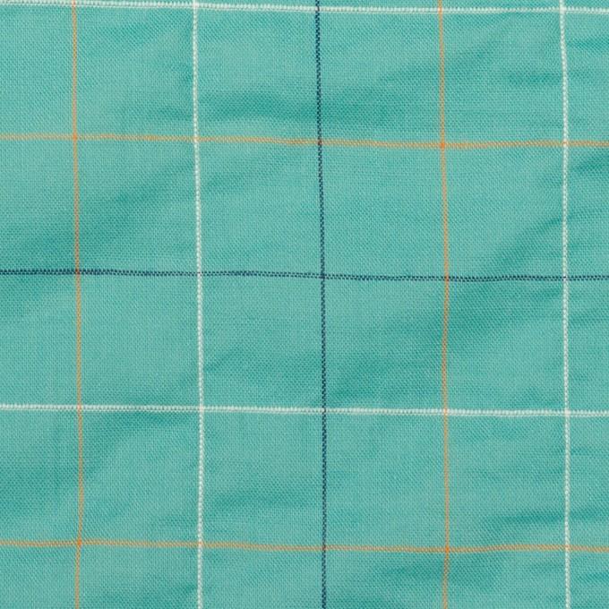 コットン&ポリウレタン×チェック(エメラルド)×ボイルシャーリング_全2色 イメージ1