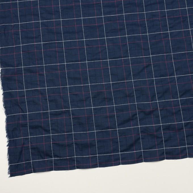コットン&ポリウレタン×チェック(ネイビー)×ボイルシャーリング_全2色 イメージ2