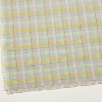 コットン&リネン×チェック(アッシュグレー、イエロー&ピンク)×キャンバス サムネイル2