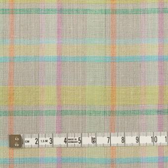 コットン&リネン×チェック(アッシュグレー、イエロー&ピンク)×キャンバス サムネイル4
