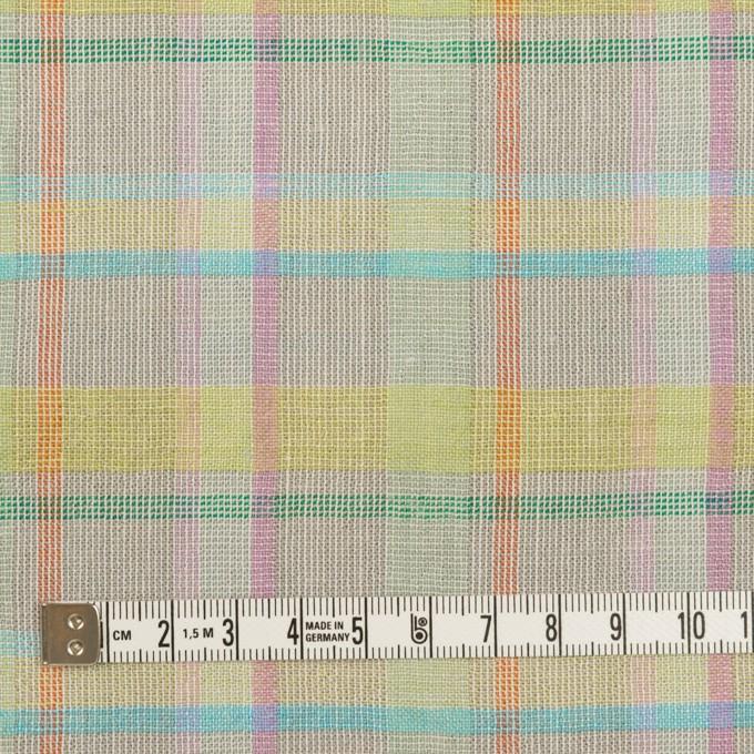 コットン&リネン×チェック(アッシュグレー、イエロー&ピンク)×キャンバス イメージ4