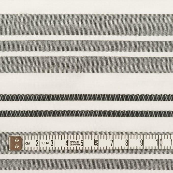 コットン×ボーダー(ホワイト、グレー&チャコール)×ピンタック イメージ4
