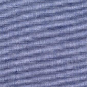 コットン&テンセル×無地(ブルー)×サージ
