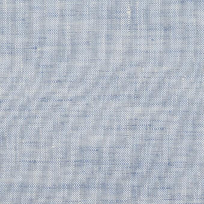 リネン×無地(ペールブルー)×薄キャンバス イメージ1