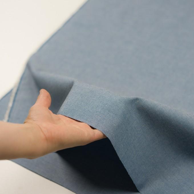 コットン×無地(ブルー)×かわり織 イメージ5
