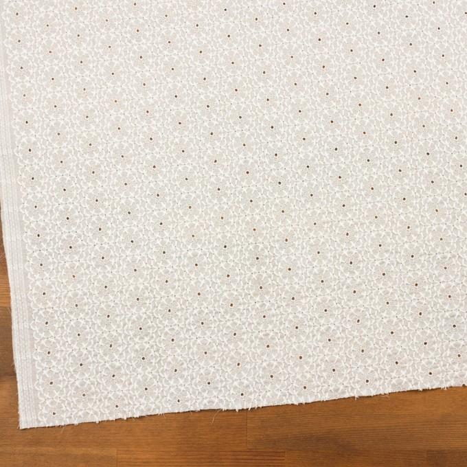 コットン×フラワー(ホワイト)×ローン刺繍 イメージ2