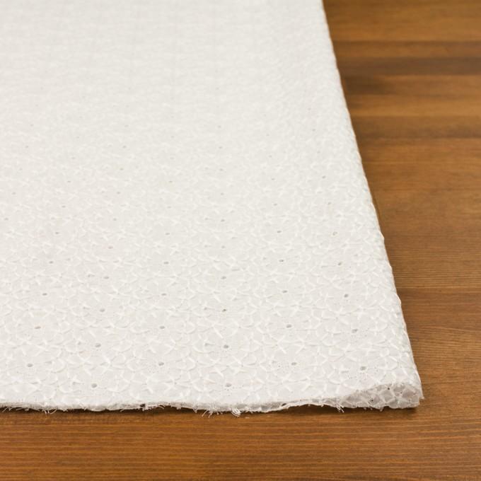 コットン×フラワー(ホワイト)×ローン刺繍 イメージ3