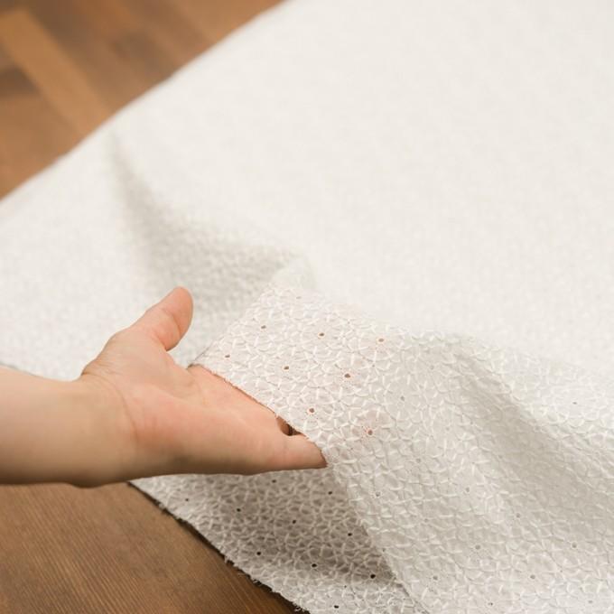 コットン×フラワー(ホワイト)×ローン刺繍 イメージ5