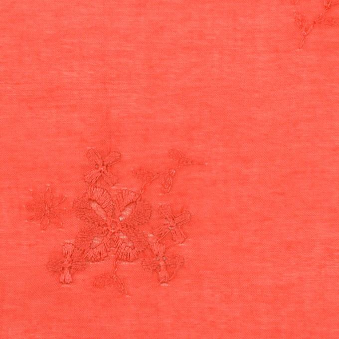 コットン×フラワー(ルビーグレープフルーツ)×ローン刺繍_全3色 イメージ1
