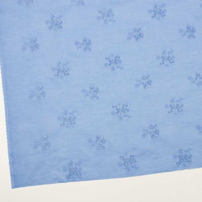 コットン×フラワー(ヒヤシンスブルー)×ローン刺繍_全3色 イメージ2