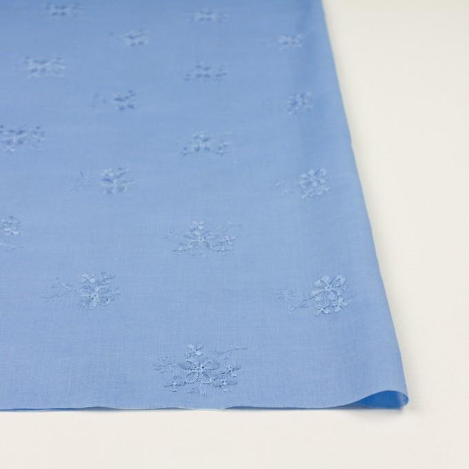 コットン×フラワー(ヒヤシンスブルー)×ローン刺繍_全3色 イメージ3