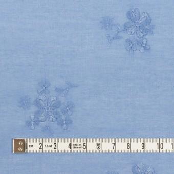 コットン×フラワー(ヒヤシンスブルー)×ローン刺繍_全3色 サムネイル4