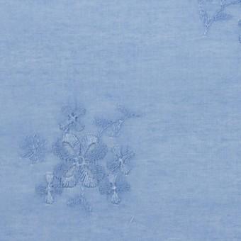 コットン×フラワー(ヒヤシンスブルー)×ローン刺繍_全3色