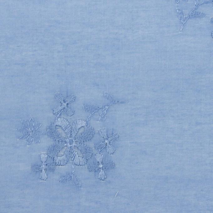 コットン×フラワー(ヒヤシンスブルー)×ローン刺繍_全3色 イメージ1