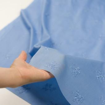 コットン×フラワー(ヒヤシンスブルー)×ローン刺繍_全3色 サムネイル5