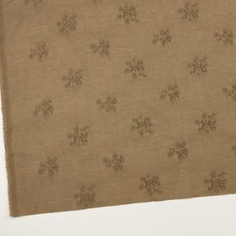 コットン×フラワー(カーキブラウン)×ローン刺繍_全3色 サムネイル2