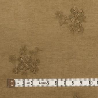 コットン×フラワー(カーキブラウン)×ローン刺繍_全3色 サムネイル4