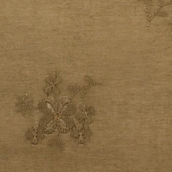コットン×フラワー(カーキブラウン)×ローン刺繍_全3色 サムネイル1