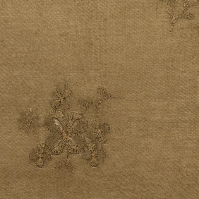 コットン×フラワー(カーキブラウン)×ローン刺繍_全3色 イメージ1