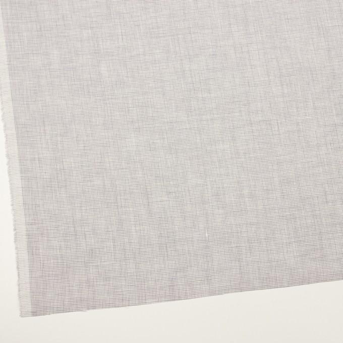 リネン×千鳥格子(ラベンダーグレー)×薄キャンバス_全2色 イメージ2