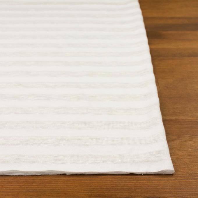 コットン&リネン×ボーダー(ホワイト)×天竺ニット イメージ3