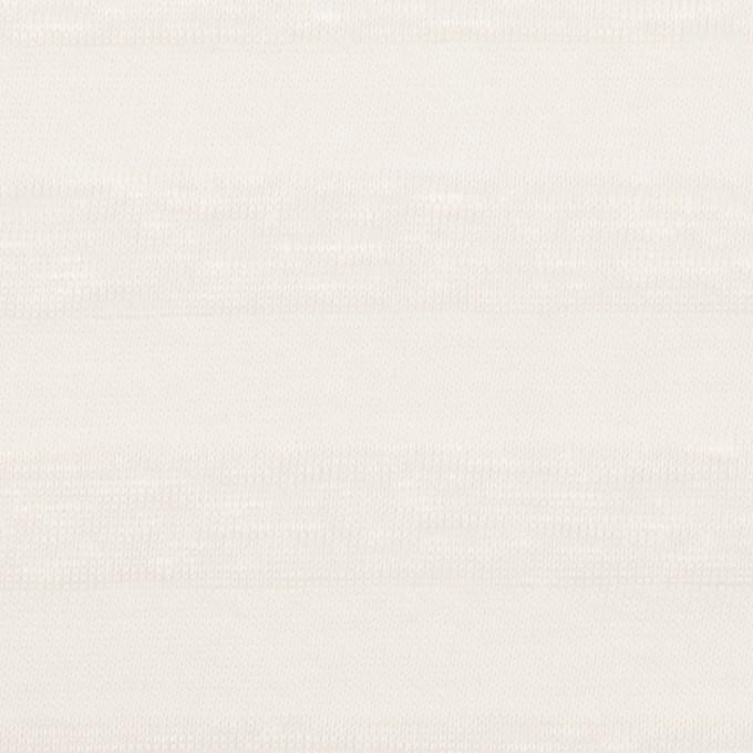 コットン&リネン×ボーダー(ホワイト)×天竺ニット イメージ1