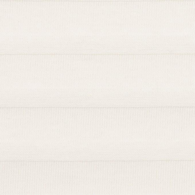 コットン×ボーダー(オフホワイト)×天竺ニット_全2色 イメージ1