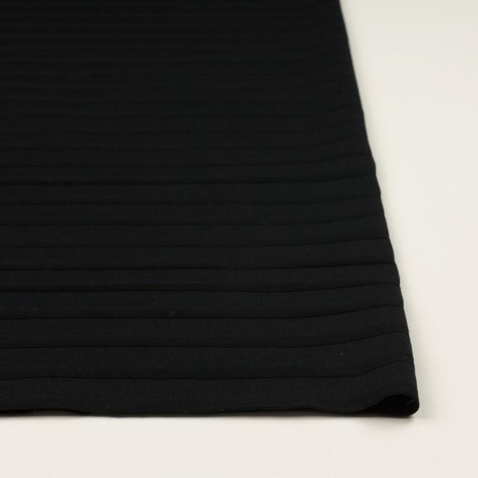 コットン×ボーダー(ブラック)×天竺ニット_全2色 イメージ3