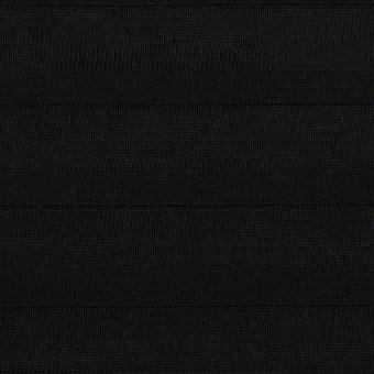 コットン×ボーダー(ブラック)×天竺ニット_全2色