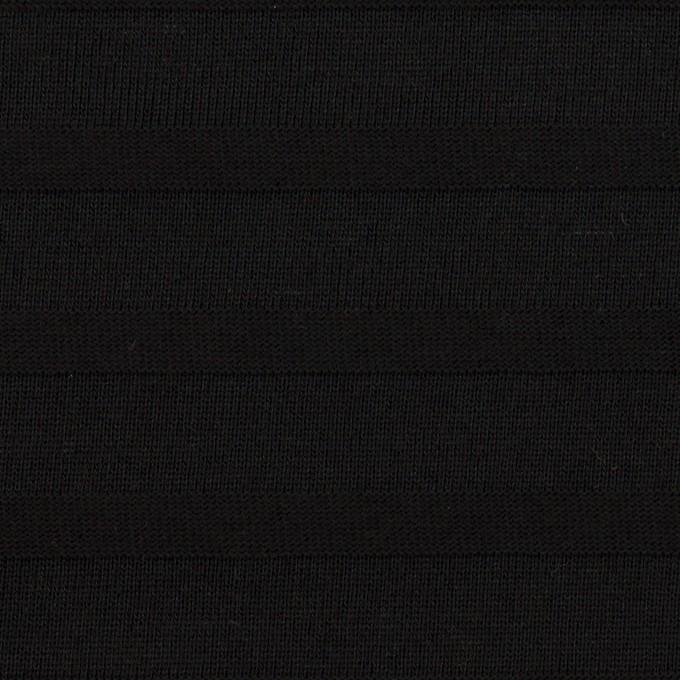 コットン×ボーダー(ブラック)×天竺ニット_全2色 イメージ1