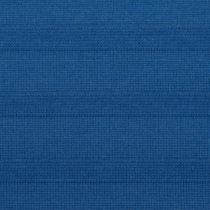 コットン×ボーダー(マリンブルー)×天竺ニット イメージ1